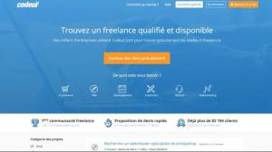 Capture du site de plateforme freelance codeur