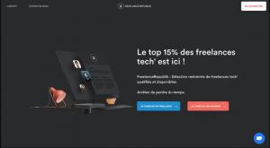 Capture du site de plateforme freelance freelanceRepublik
