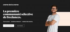 Capture du site de plateforme freelance la creme de la creme