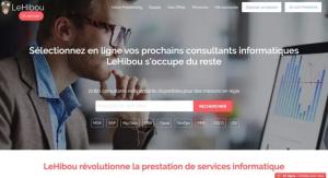 Capture du site de plateforme freelance le hibou
