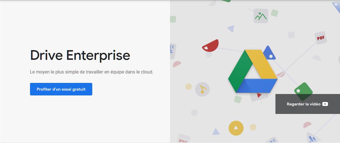 Outil de collaboration en ligne Google Drive