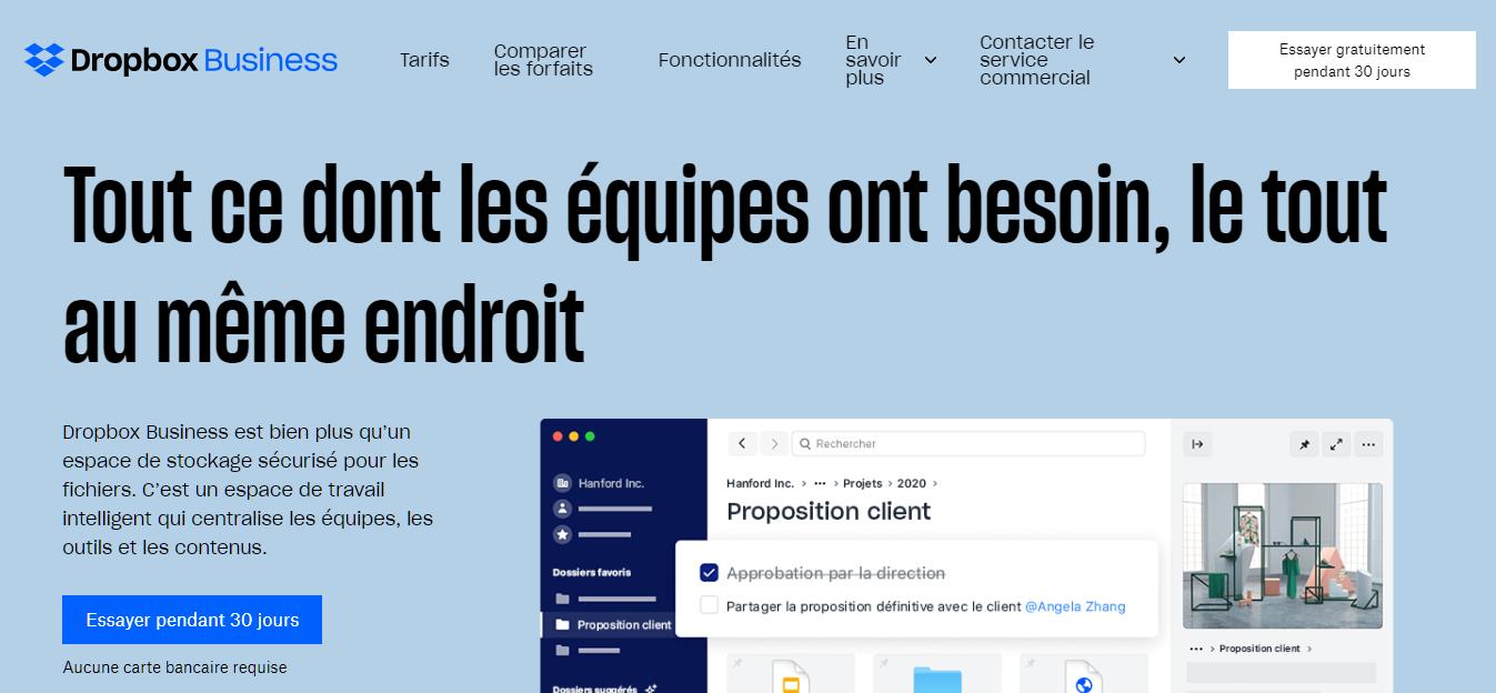 Dropbox Business, outil collaboratif en ligne