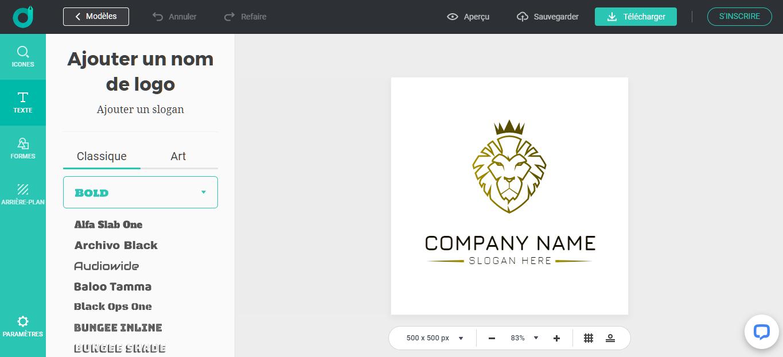 Création de logo avec le générateur de logo DesignEvo