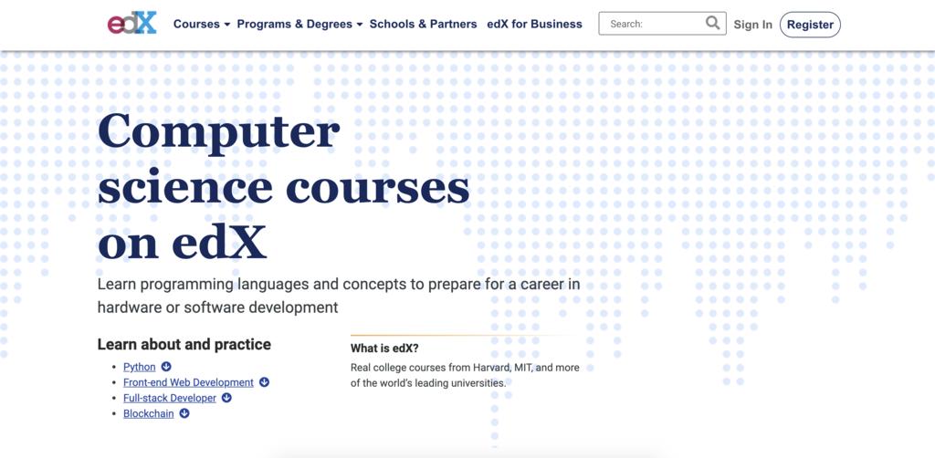 Cours d'informatique de edX pour apprendre à coder