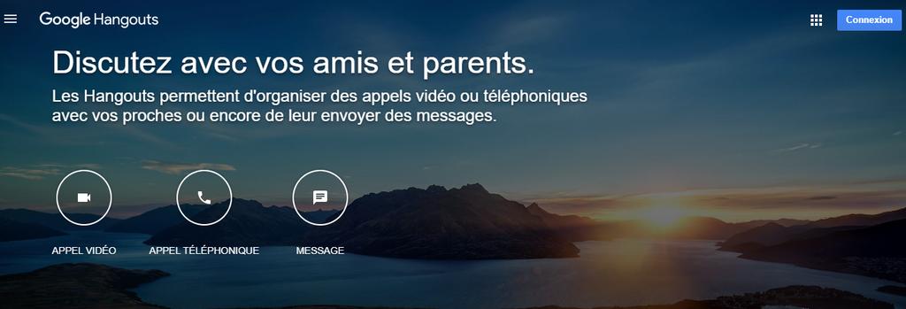 Google Hangouts, un des outils collaboratifs
