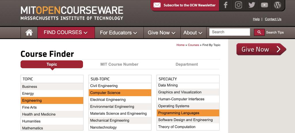Apprendre à coder en ligne gratuitement avec MIT Open Courseware