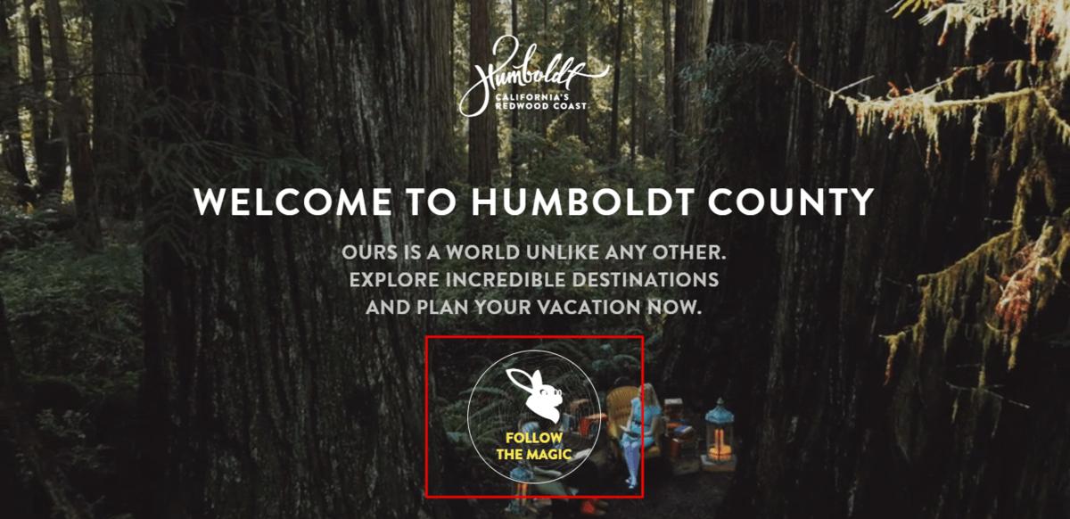 L'appel à l'action du site web Humboldt Country
