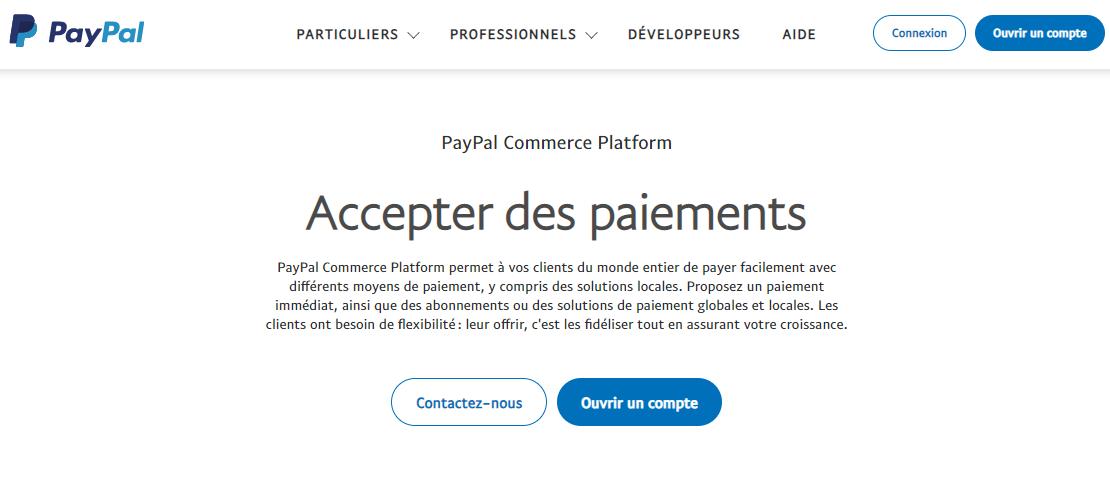 Accepter les paiements avec PayPal