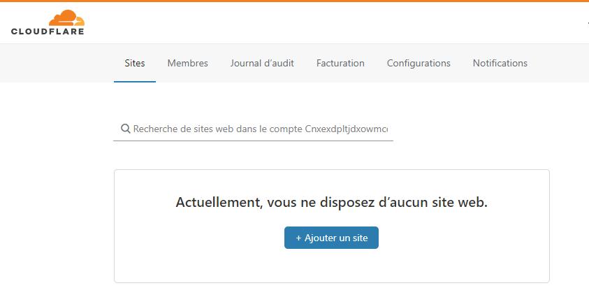 Ajouter un site web à Cloudflare