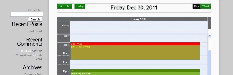 Appoinment calendar plugin de réservation WordPress