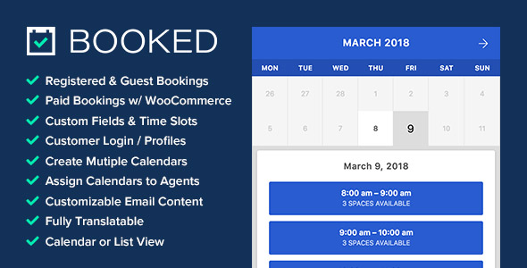 Booked plugin de réservation WordPress