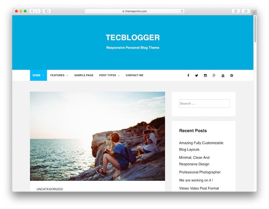 Thème du blog WordPress Tecblogger