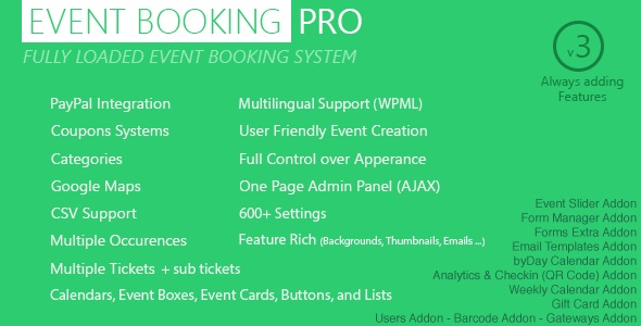 Event Booking Pro plugin de réservation WordPress