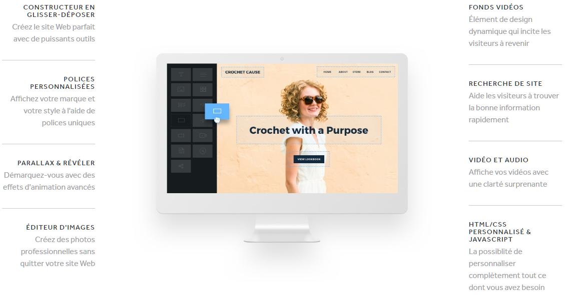 Exemple de créateur de site internet