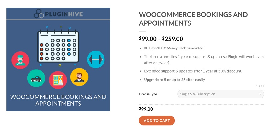 WooCommerce Bookings and Appointments plugin de réservation WordPress