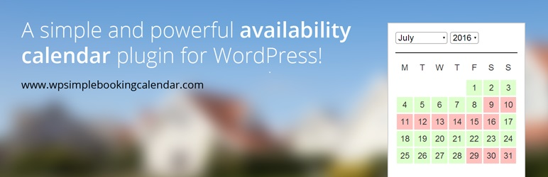 WP Simple Booking Calendar plugin de réservation WordPress