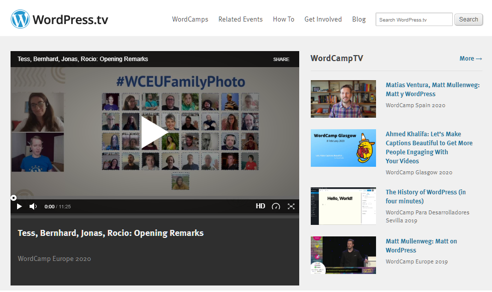 WordPressTV, site de tutoriels WordPress