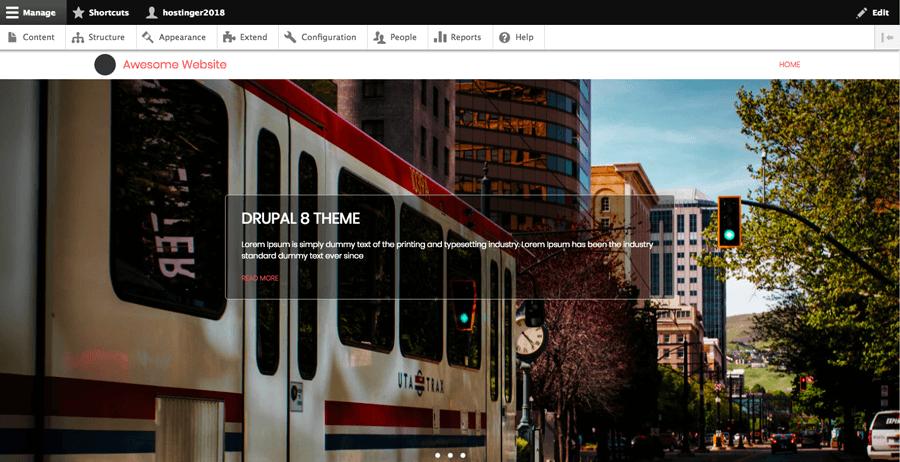 Un exemple de thème gratuit pour Drupal 8 lors de la création d'un site web