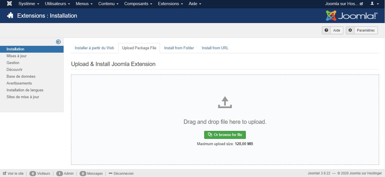Installer un template de Joomla