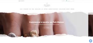 Capture du site de ventes darticles dartisanat fait maison