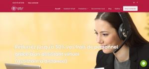 Capture du site votre assistant virtuel